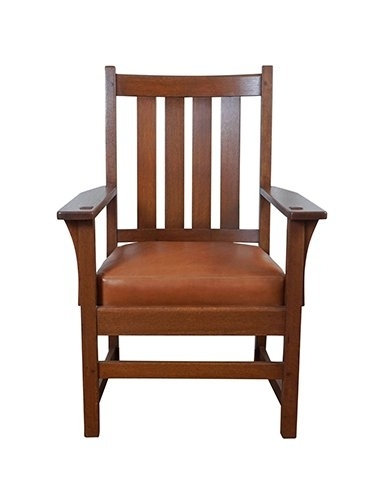 Gustav Stickley Furniture – 12 For Sale At 1Stdibs Inside Favorite Craftsman Upholstered Side Chairs (View 10 of 20)