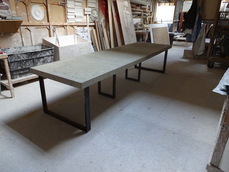 H & H Bespoke Concrete Top Tables (View 10 of 20)