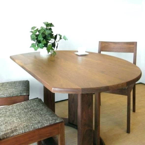 Half Moon Dining Tables Half Moon Dining Table Attractive Awesome Intended For Latest Round Half Moon Dining Tables (View 5 of 20)
