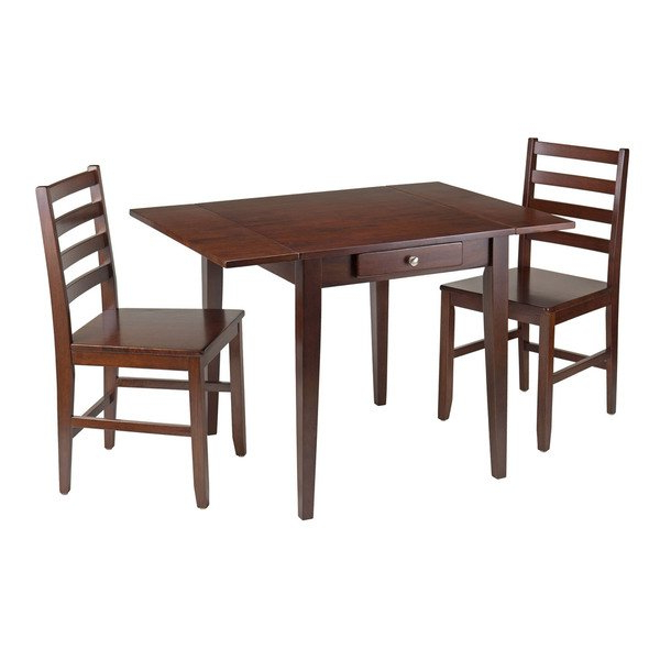 Hamilton Dining Tables Regarding Well Known Hamilton 3 Pc Drop Leaf Dining Table With 2 Ladder Back Chairs (View 7 of 20)