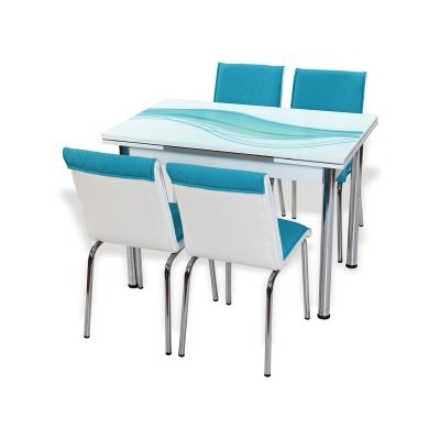 Hannah Concept Intended For Blue Glass Dining Tables (View 6 of 20)