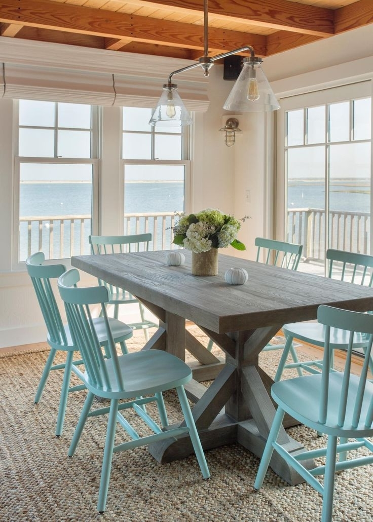 Happy Decor – Who's For Blue Dining Tables (Gallery 18 of 20)