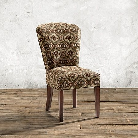 Harman Upholstered Dining Side Chair In Benjiro Clay And Tuscany For Latest Clay Side Chairs (View 9 of 20)
