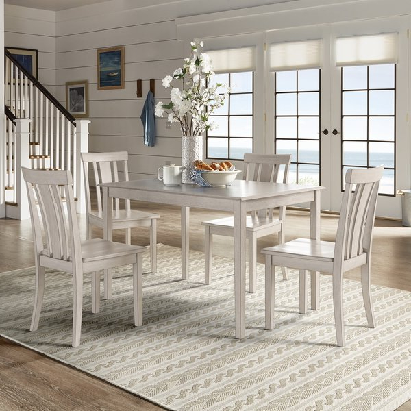 Harper 5 Piece Counter Sets In 2018 Shop Wilmington Ii 48 Inch Rectangular Antique White 5 Piece Dining (View 4 of 20)