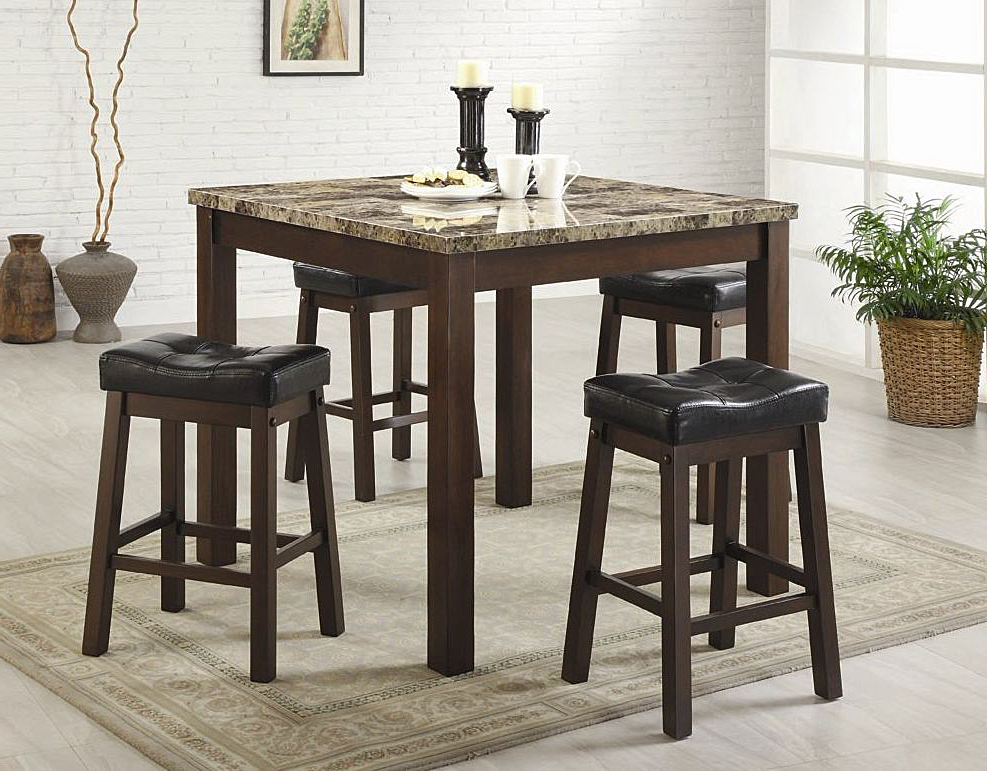 Harper 5 Piece Counter Sets Pertaining To Popular Counter Height Dining Sets (View 6 of 20)