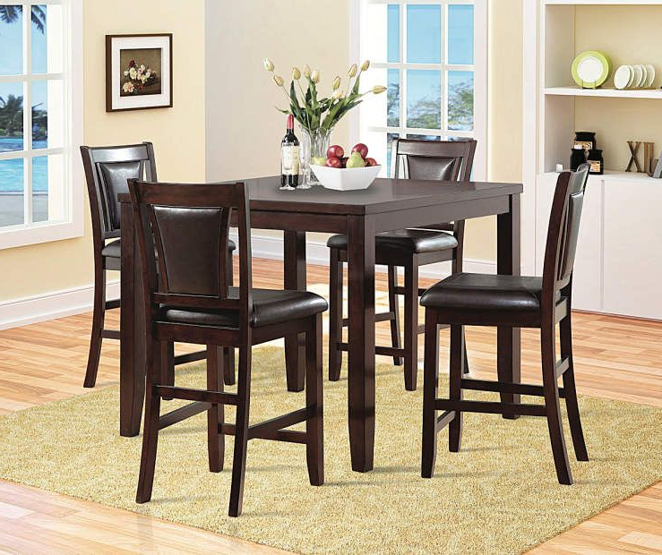 Harper 5 Piece Counter Sets Throughout Most Recent Harlow 5 Piece Pub Set At Big Lots (View 19 of 20)