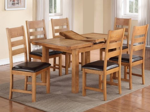 Harvest Oak 4 X 3 Dining Table – M (View 5 of 20)