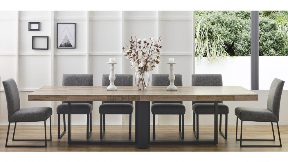 Harvey Dining Tables With Fashionable Buy Brandon 300Cm Rectangular Dining Table (View 5 of 20)
