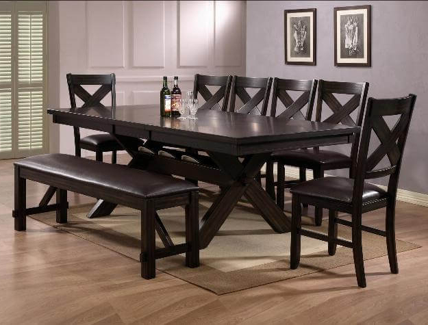 Havana Dining Set With Benchcrown Mark Pertaining To Popular Havana Dining Tables (View 7 of 20)
