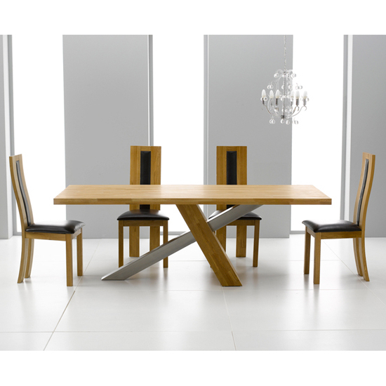 Havana Dining Tables With Most Current Antonio Solid Oak Dining Table And 6 Havana Dining Chairs (View 11 of 20)