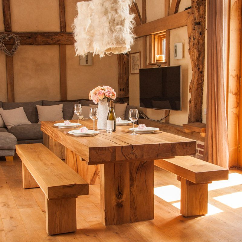 Have It Straight Chunky Solid Oak Dining Table With Regard To Popular Oak Dining Sets (View 11 of 20)