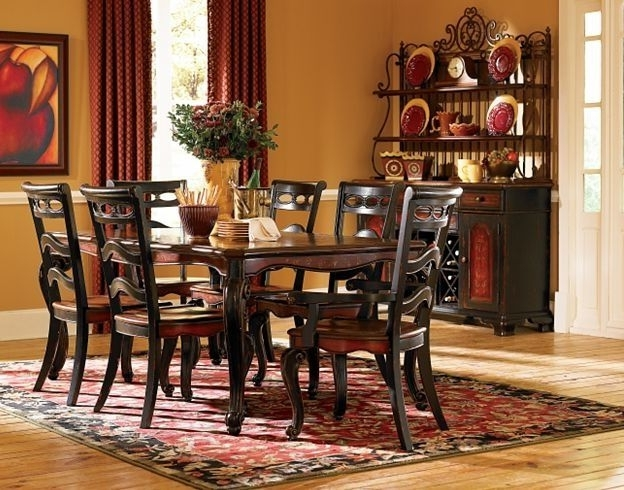Havertys Within Fashionable Bale 7 Piece Dining Sets With Dom Side Chairs (View 11 of 20)