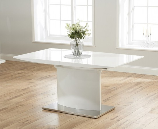 Hayden 160 Cm White High Gloss Extending Dining Table (View 9 of 20)