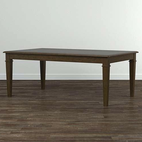 Helms 6 Piece Rectangle Dining Sets With Side Chairs Inside Famous Rectangular Dining Table All Wood Solid Top – Tigerbytes (View 7 of 20)