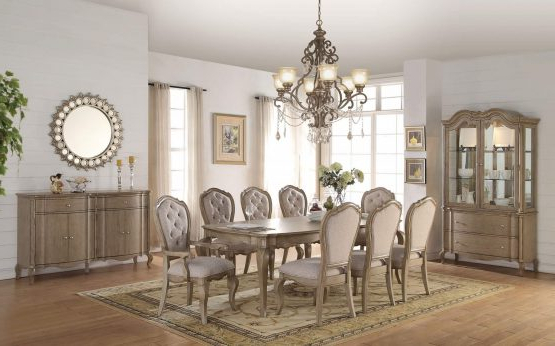 Helms 6 Piece Rectangle Dining Sets With Trendy 9 Piece Acme Landon Rustic Dining Set – Usa Furniture Warehouse (View 11 of 20)