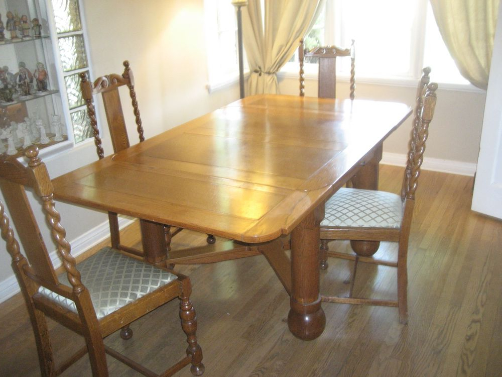 Helms Round Dining Tables Inside Trendy Antique Draw Leaf Dining Table And Chairs (View 8 of 20)