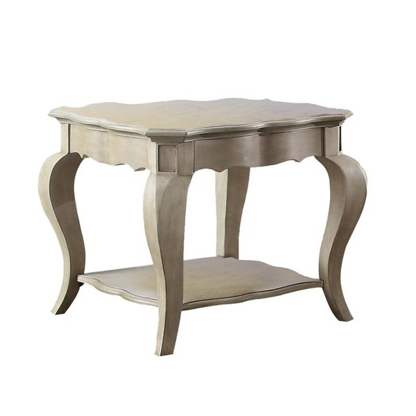 Helms Round Dining Tables Inside Trendy Shop Acme Chelmsford End Table, Antique Taupe – Free Shipping Today (View 9 of 20)