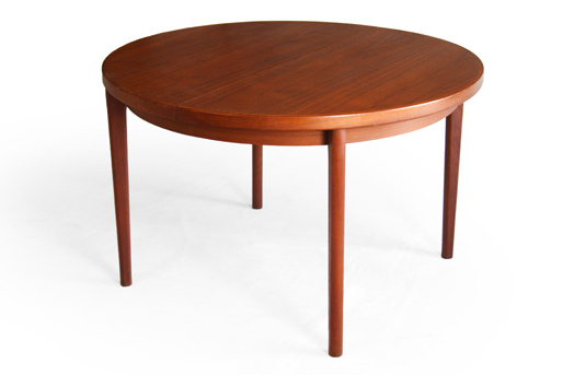 Henning Kjaernulf Vejle Round Teak Dining Table Danish Modern With Most Popular Round Teak Dining Tables (View 10 of 20)