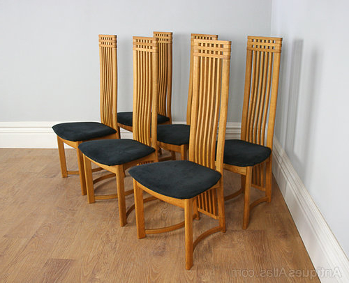 High Back Dining Chairs For 2018 Antiques Atlas – Six Actona Art Deco Oak High Back Dining Chairs (View 12 of 20)