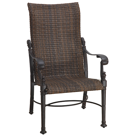 High Back Dining Chairs With Fashionable Florence Woven High Back Dining Chair (Chestnut On Midnight Gold (View 9 of 20)