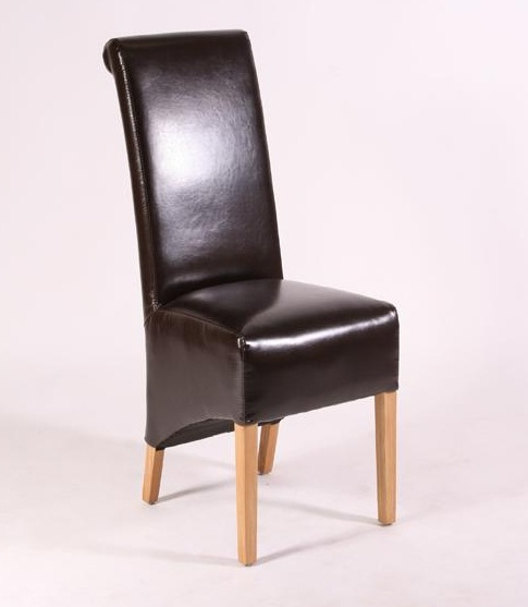 High Back Leather Dining Chairs Pertaining To Most Recent How To Refurbish High Back Dining Room Chairs Home Interiors Rush (View 3 of 20)