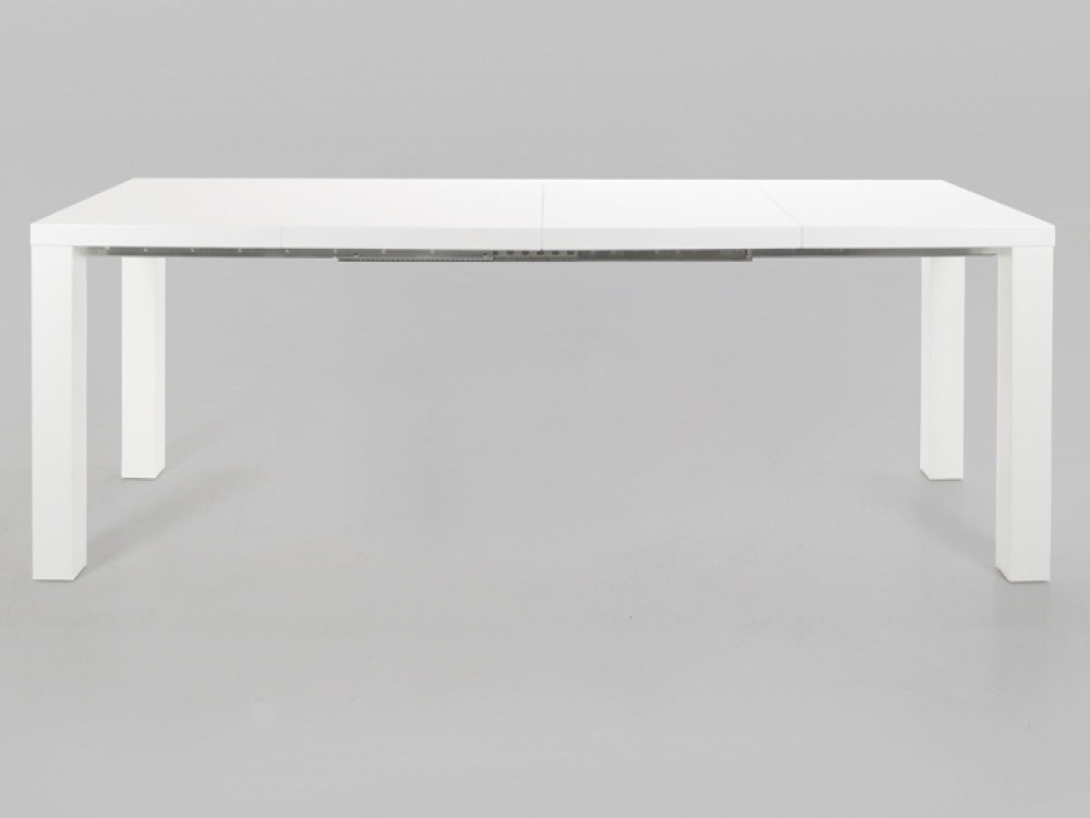 High Gloss Extending Dining Tables Intended For Most Up To Date Malibu White High Gloss Extending Dining Table (View 11 of 20)