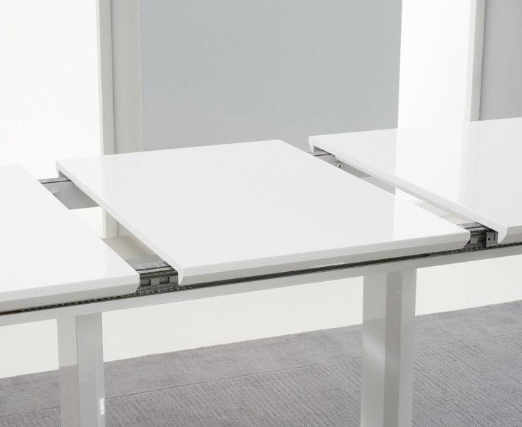 High Gloss Extending Dining Tables With Well Known Beckley 6 To 8 Seater White Gloss Extending Dining Table (View 16 of 20)