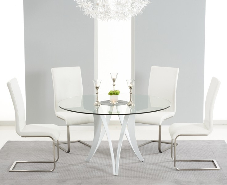 High Gloss Round Dining Tables In Well Known Buy Mark Harris Bellevue White High Gloss Round Dining Table – 130Cm (View 8 of 20)