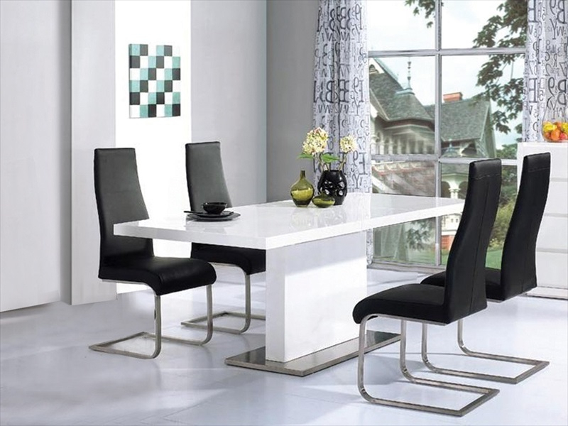 High Gloss Tables & Chairs : Tbs Discount Furniture, A Large Intended For Favorite Hi Gloss Dining Tables Sets (View 19 of 20)