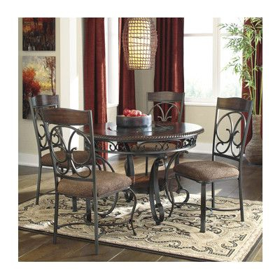 Hitching Inside 2017 Grady 5 Piece Round Dining Sets (View 10 of 20)