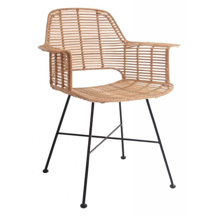 Hkliving Arm Chair Rattan Natural – Orangehaus In Most Up To Date Natural Rattan Metal Chairs (View 4 of 20)