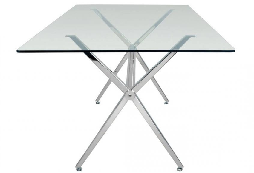 Hnd – Milano Dining Tables – Brushed Steel Finished Frame – Clear Or Intended For Most Up To Date Brushed Steel Dining Tables (View 19 of 20)