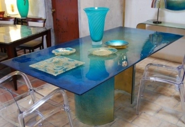 Featured Photo of Blue Glass Dining Tables