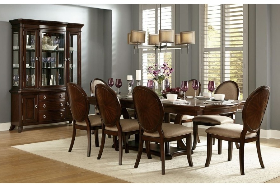 Home Elegance Usa Inside Caira 7 Piece Rectangular Dining Sets With Upholstered Side Chairs (View 11 of 20)