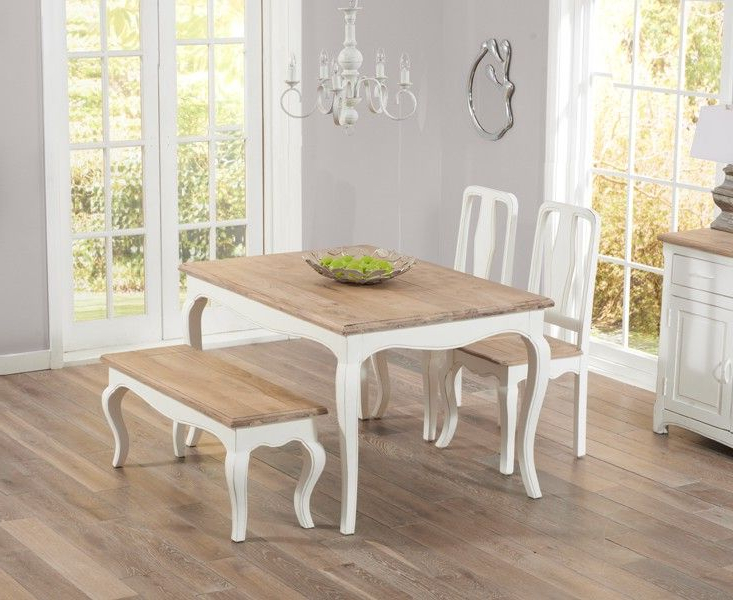 Home Furniture Intended For 2017 Shabby Chic Cream Dining Tables And Chairs (View 19 of 20)