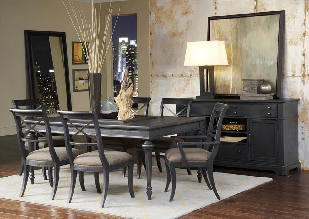 "Home Furniture – Montgomery, Al Vintage Tempo 72"" Black Extension With Well Liked Jaxon 5 Piece Extension Round Dining Sets With Wood Chairs (View 6 of 20)"