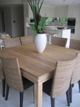 Home Intended For Trendy Dark Wood Square Dining Tables (View 11 of 20)