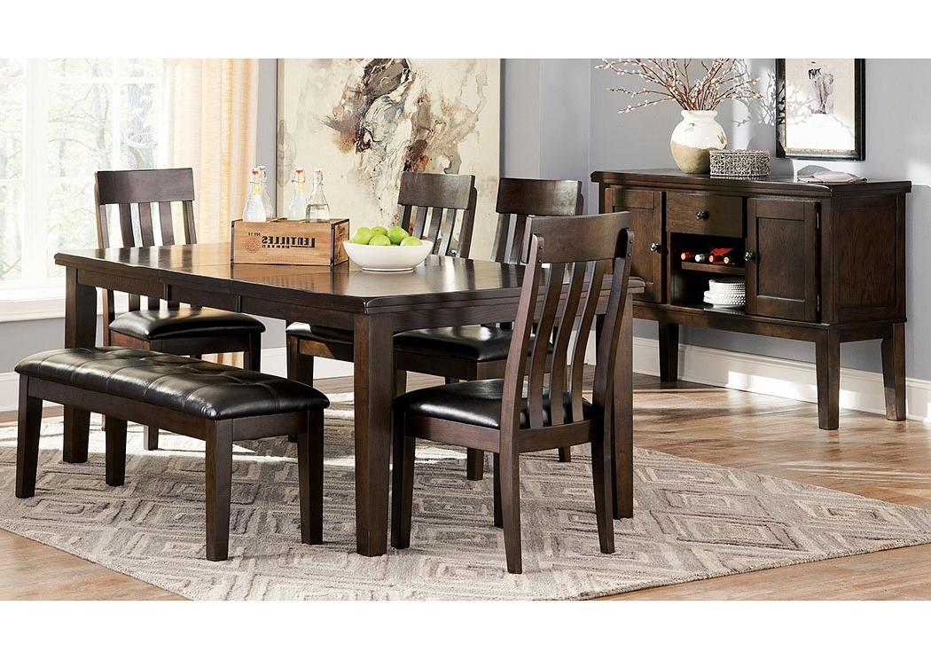 Homestead Furniture Haddigan Dark Brown Rectangle Dining Room With Regard To Popular Craftsman 5 Piece Round Dining Sets With Side Chairs (View 10 of 20)