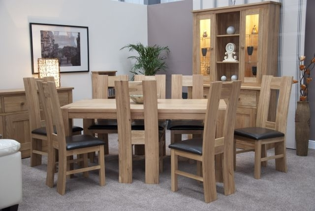 Homestyle Trendy Lifestyle Solid Oak 1.8 X 1M Chunky Dining Table Within Most Recent Chunky Solid Oak Dining Tables And 6 Chairs (Gallery 2 of 20)