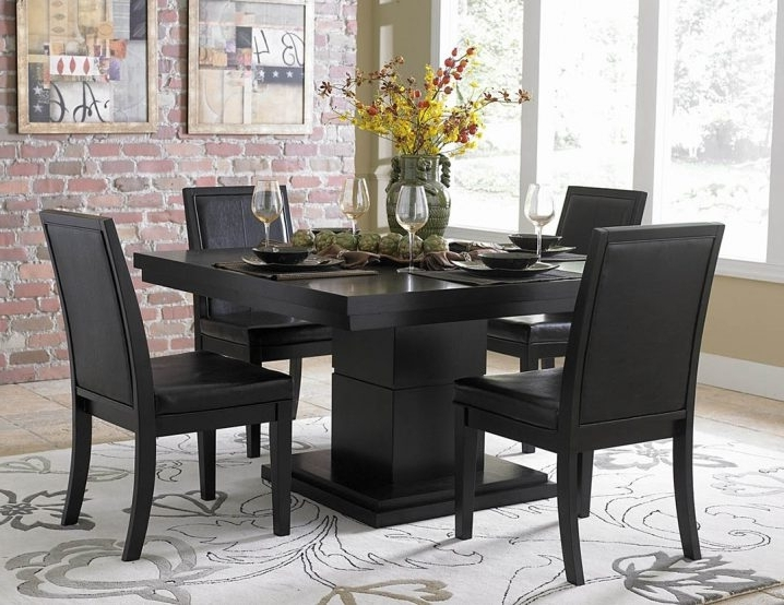 How To Select Black Dining Table And Chairs – Blogbeen Intended For Newest Cora 5 Piece Dining Sets (Gallery 13 of 20)