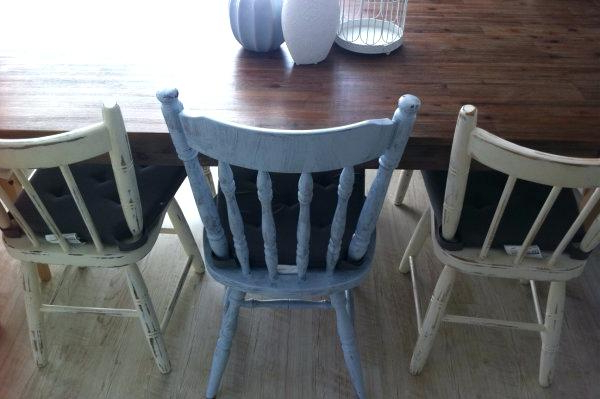How To Shabby Chic A Dining Table Chair Pertaining To Shabby Chic Within Preferred Shabby Dining Tables And Chairs (View 6 of 20)