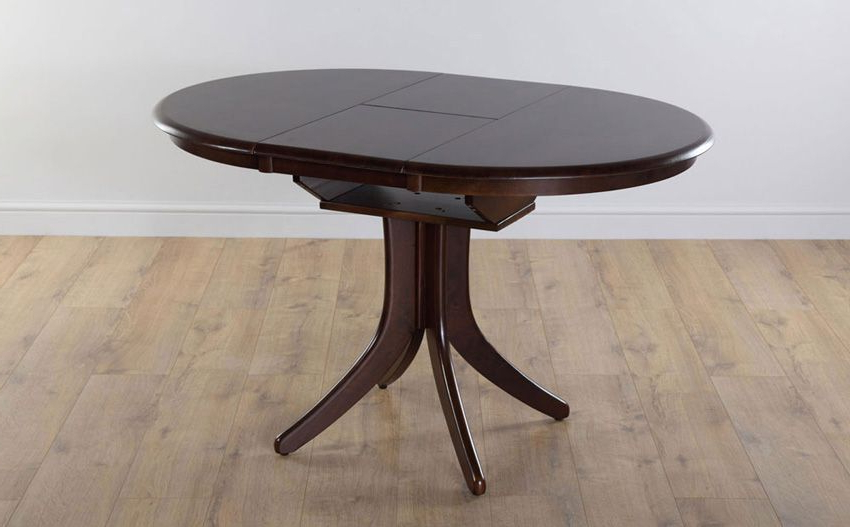Hudson Round Dark Wood Extending Dining Table – With 4 Java Chairs Throughout 2018 Hudson Round Dining Tables (View 19 of 20)