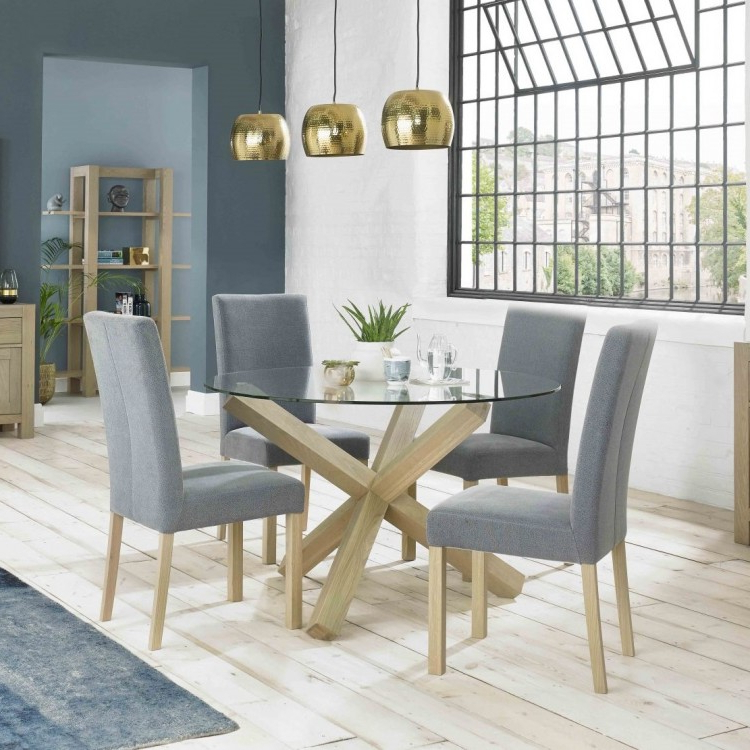 Huge Offers On The Turin Furniture Range At Oak Furniture House Within Newest Round Glass And Oak Dining Tables (View 9 of 20)