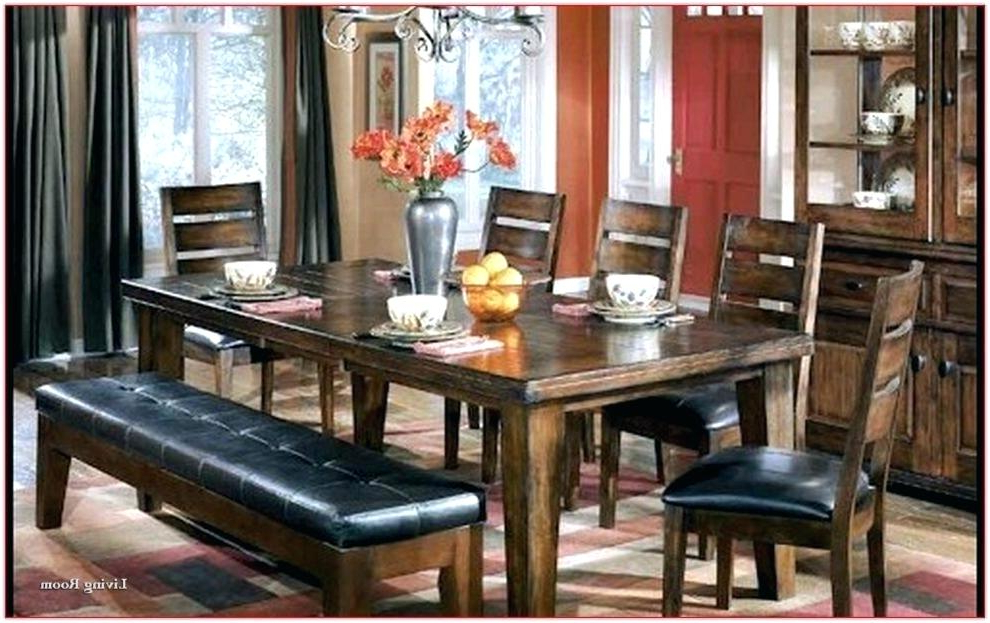 Hyland 5 Piece Counter Sets With Bench Within Latest Ashley Furniture Dining Tables Furniture Bench Furniture Dining (View 15 of 20)