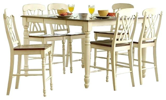 Hyland 5 Piece Counter Sets With Stools Regarding Preferred Hyland Counter Height Dining Room Table – Ocane (Gallery 7 of 20)