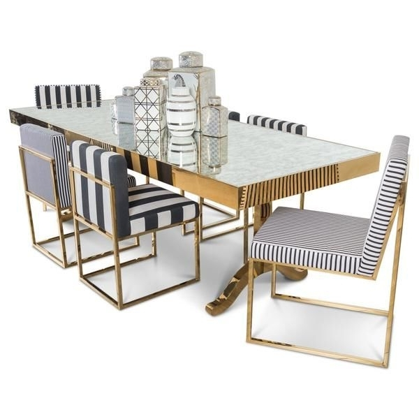 Ibiza Dining Table With Antique Mirror (View 11 of 20)