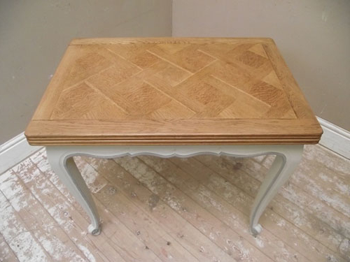 Id2751 Small Vintage French Painted Dining Table Inside Most Popular French Extending Dining Tables (View 17 of 20)