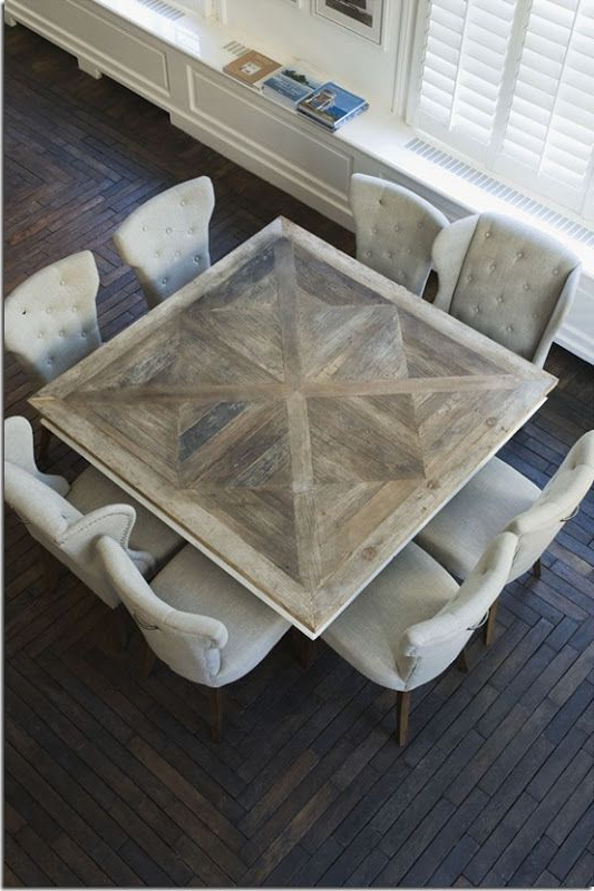 Idea For Doing A Non Traditional Dining Table For The Open Kitchen For Most Popular Square Dining Tables (View 14 of 20)