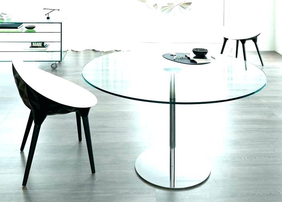 Ikea Round Glass Top Dining Tables For Popular White Glass Dining Table Ikea Round Glass Dining Table Top Kitchen (Gallery 13 of 20)