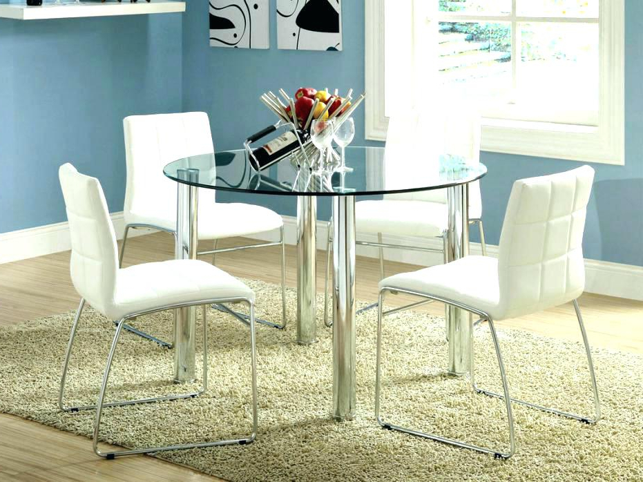 Ikea Round Glass Top Dining Tables Throughout Most Current All Glass Dining Table All Glass Table Kitchen Dining Round For (View 7 of 20)